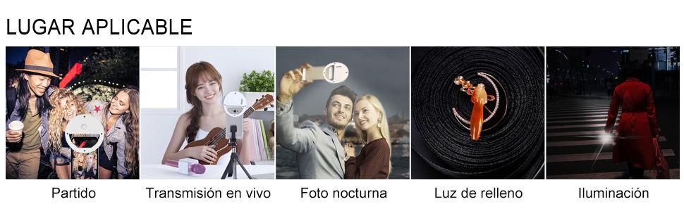 aro de luz selfie celular